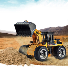 Alloy Electric Excavator RC Car RC Forklift Truck Remote Control Toys Engineering Electronic Remote Control Car