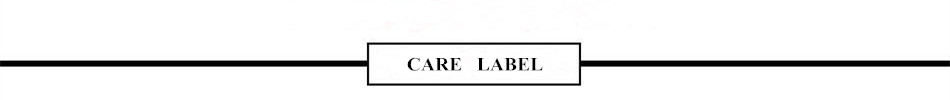 7 CARE LABEL