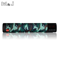 M J Wireless Bluetooth Speaker 10w 3d Stereo Sound System Support TF Card FM USB AUX