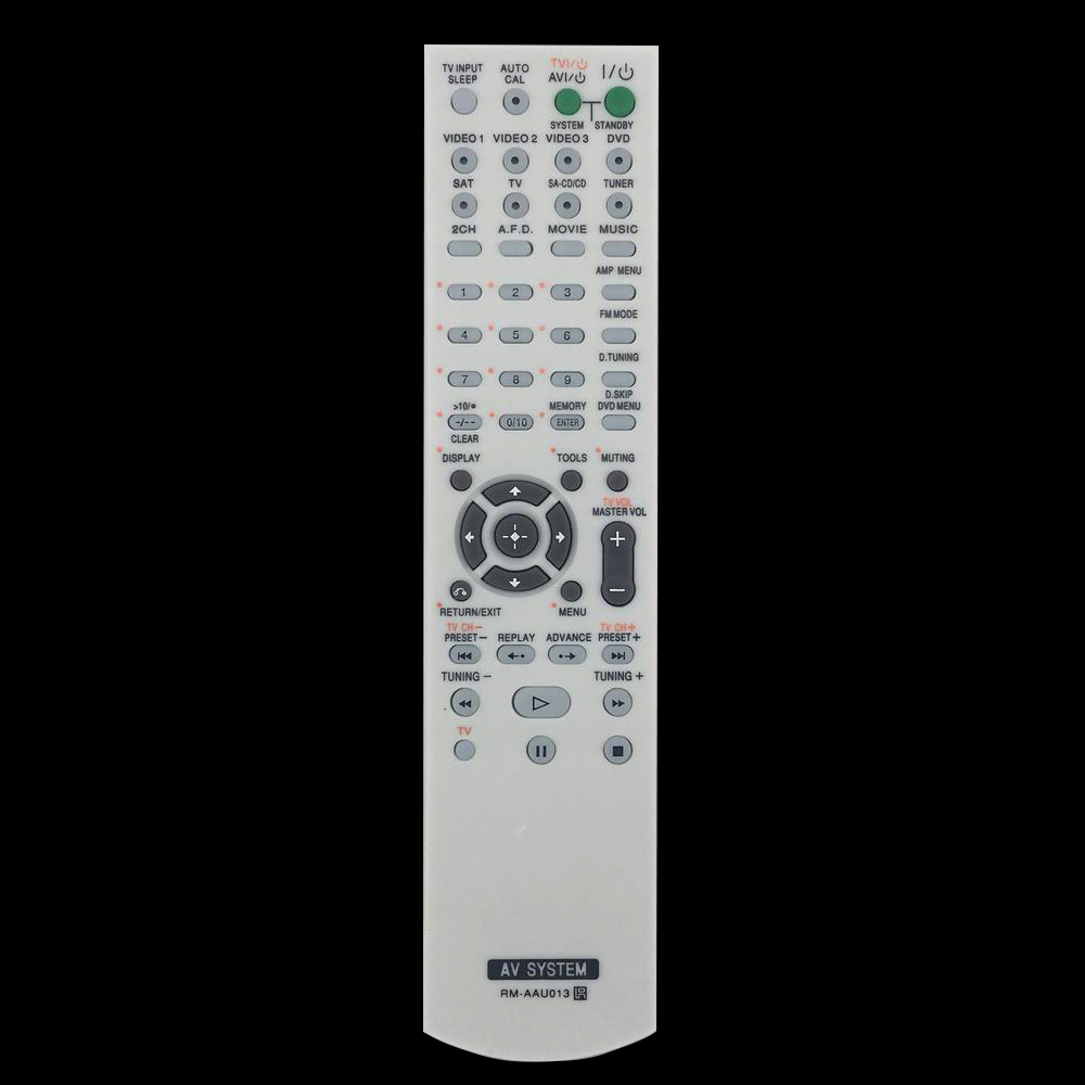 New For Sony RM-AAU013 Audio/Video Receiver AV Remote Control HTDDW790 chunghop rm l7 multifunctional learning remote control silver