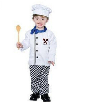 a5542f446e3 2017 Venta caliente los nuevos disfraces especiales niños Fotografía niños  chefs ropa de actuación ropa de Halloween en Chaqueta de chef de Novedad y  uso ...