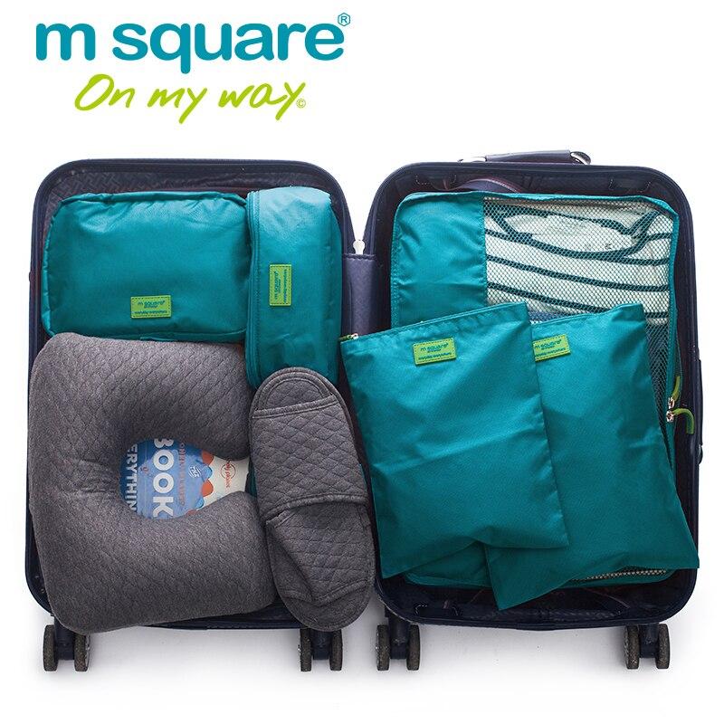 M алаңы 5pcs Travel Packing Cube Set Unisex Әйелдер - Багаж және саяхат сөмкелері - фото 2