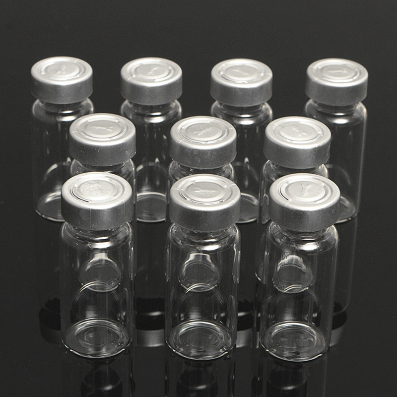 Kicute 10pcs 10ML Clear Sampling Sample Glass Bottles Vials And Stopper And Caps For Cosmetic Bottle Laboratory Liquid Bottle
