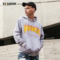 VIISHOW 2017 Hoodies Men Sudaderas Hombre Hip Hop Mens Brand Hooded Printed Geometric Hoodie Sweatshirt Men