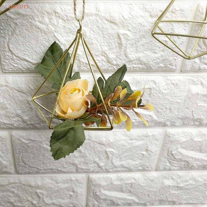 Metal Geometric Flower Plant Stand Hanging Display Holder Rack Shelf Home Decor