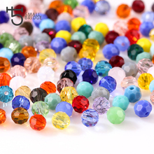 3 4 6 mm Small Austrian Crystal Beads Faceted Round Glass Beads Making Jewelry for Handicraft Loose Beads Wholesale Z162