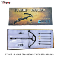 ZYTOYS 15 24 1/6 Scale Crossbow set W 8PCS Sideshow Arrows For Daryl Walking Dead Custume Weapon Model Equipment for Crossbows