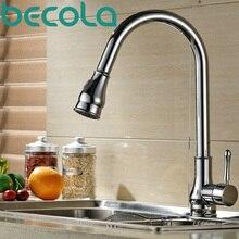 Бесплатная доставка becola НОВЫЙ Дизайн Вытащить Кухонный Кран Латунь Хром смеситель для кухни Поворотный Кран Раковины B-9206C