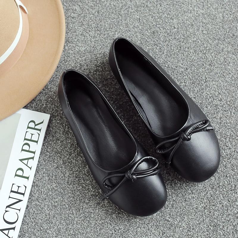 Chaussures 18412 bas Confortable Tête Profonde Modèles noir Ronde Beige Vent Collège Décontracté Sac Bouche Sauvage Et De Femmes Peu 2018 Kelly qAUTw1w