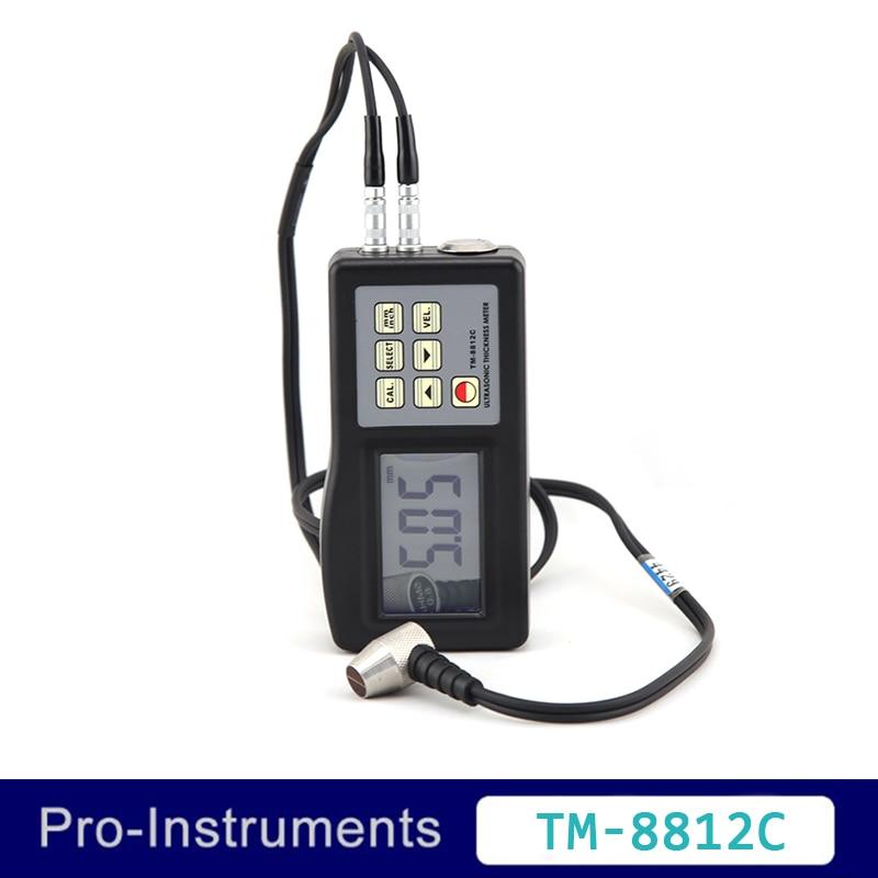 Landtek TM8812C 1.0~200 mm ultrasonic metal thickness tester 0.01 mm resolution