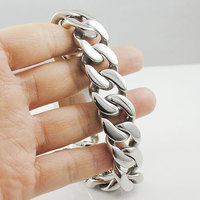 24cm 113g Heavy Mens Jewelry Chains Insert Buckle Bracelet Rock Style 316l Stainless Steel High Quality
