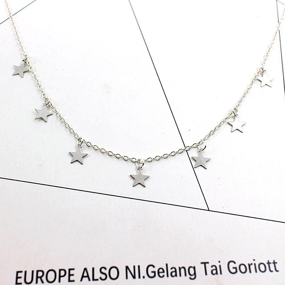 539cc20d2fc PICKYZ Boho Women chocker gold Silver Chain star choker Necklace collana  Kolye Bijoux Collares Mujer gargantilha Collier Femme-in Choker Necklaces  from ...