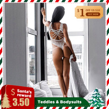Teddies Babydoll Sexy Lingerie Women Exotic Apparel Lace Up Hollow Out Underwear Costumes Sets Nightwear Bandage