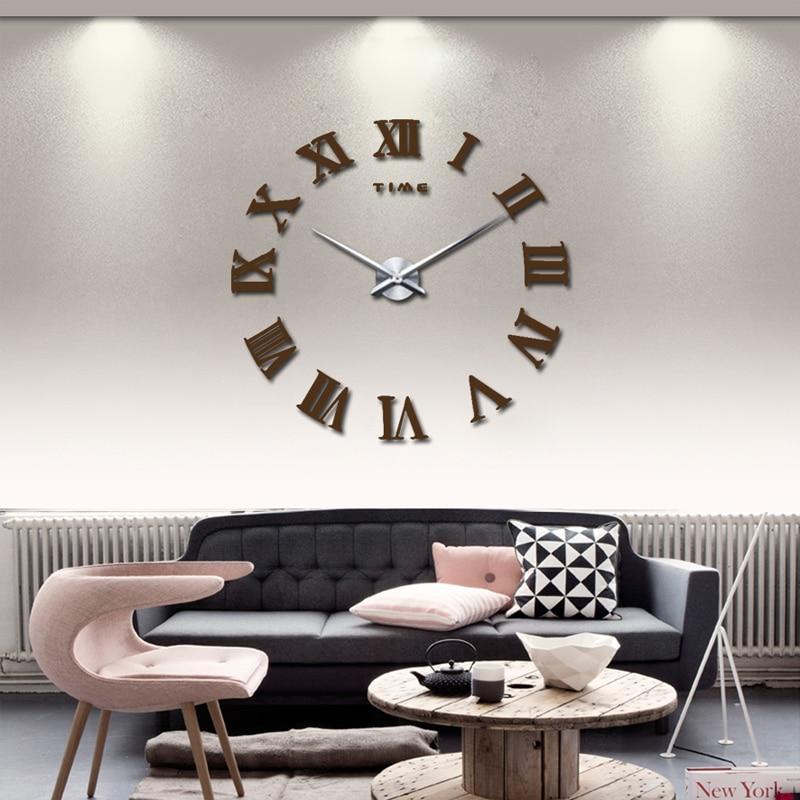 2017 new real home decorations quartz modern wall clock clocks watch ...