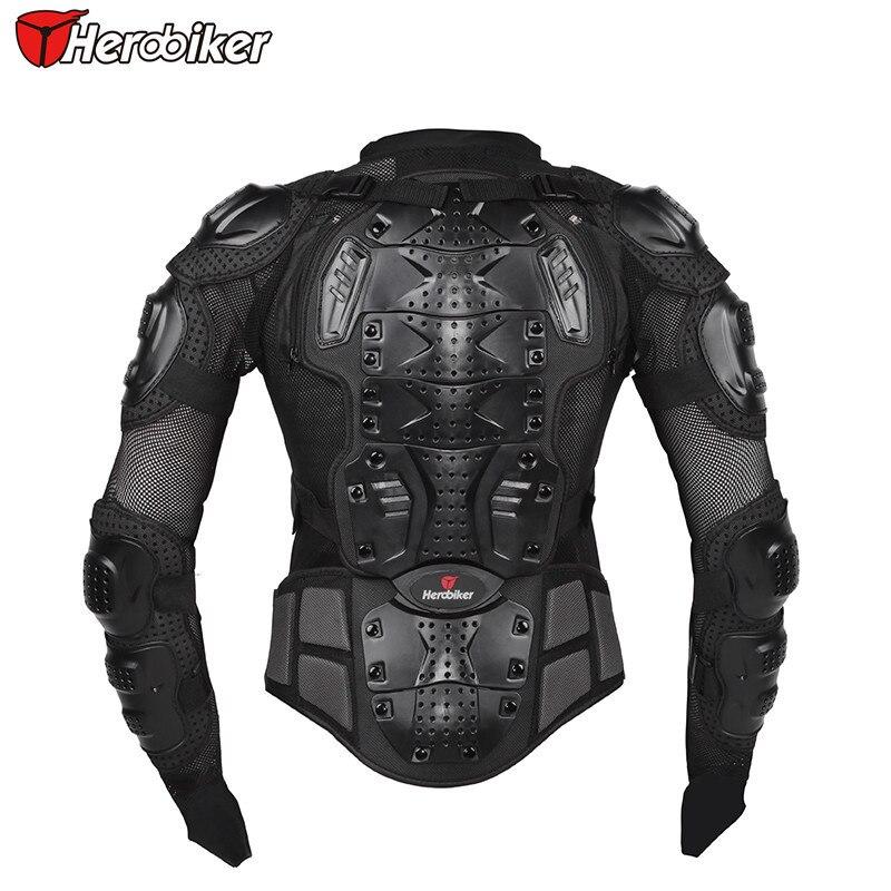 HEROBIKER nouvelle moto corps garde corps Protection Gear Motocross oreille veste soutien arrière noir course moto veste - 3