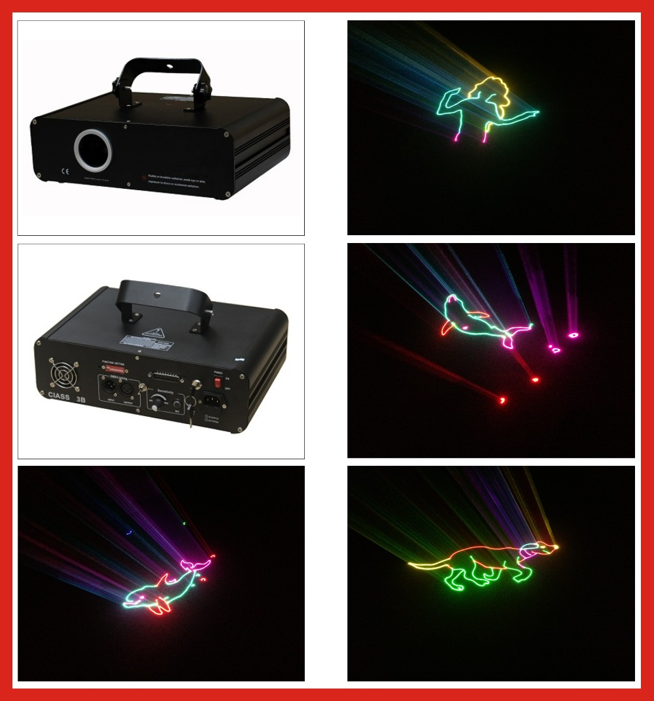 New 1W RGB animation laser light 20kpps laser light multi color laser light green 150mW@532nm+red 200mW@635nm+blue 500mW@450nm цены онлайн