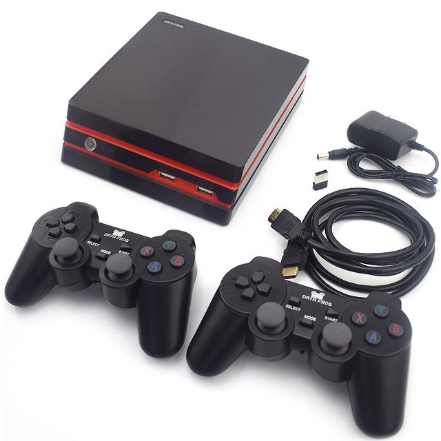 Data Frog Retro Video Game Console with 2.4G Wireless / Wired 600 Gamepads for HDMI