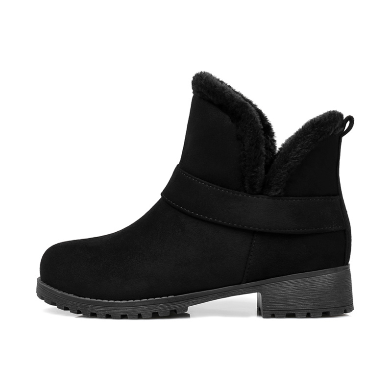 2018 Women Plus Size Fashion Martins Snow Boots Winter Autumn Plush Flats Boots Female Warm Ladies Black Booties Quality Shoes недорго, оригинальная цена
