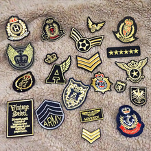 10pcs random stripes patches for clothing iron on military mixed embroidery patch applique badges stickers clothes