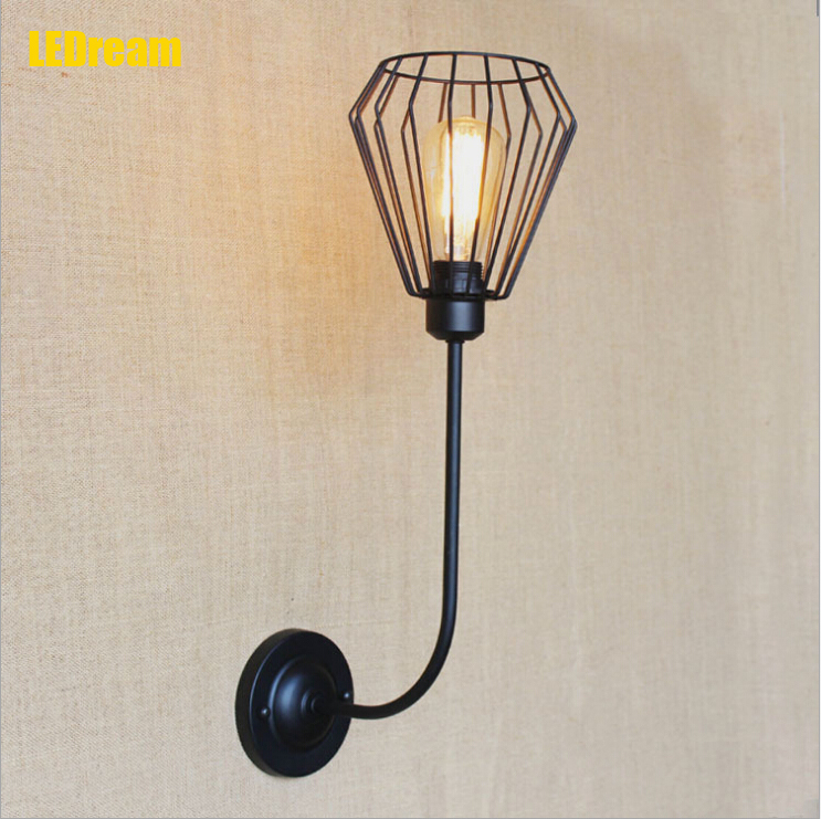 American country creative hob bend a bed antique european-style bedroom living room balcony hallway stairs single head wall lamp enhanced version of european style metal bed iron bed double bed pastoral style student bed 1 5 meters 1 8 meters