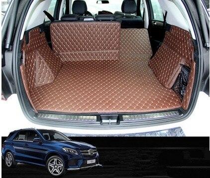 Высокое качество! Специальные коврики для багажника Mercedes Benz ML 350 W166 2015 2012 прочный грузовой лайнер ковры для ML350 2014, бесплатная доставка
