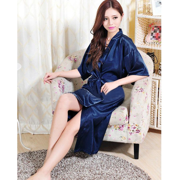 hot sale kimono promotion silk kimono robe wholsale robes cheap sale bathrobes for women fashion lace robe high - Mens Bathrobes