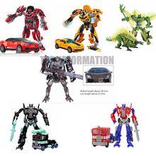 New Retail transformación 4 Juguetes Optimus Pe Brinquedos coche Robot figura de acción del Anime clase Juguetes abejorro regalo de los cabritos