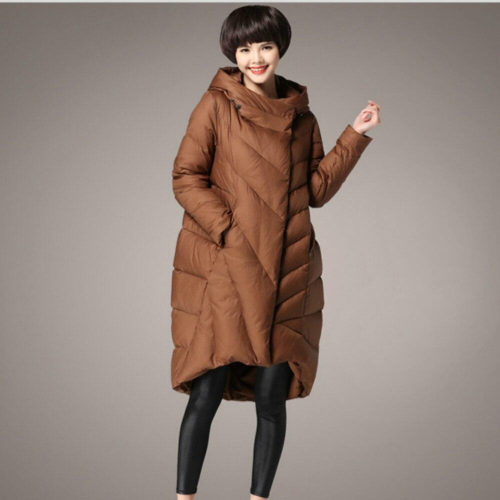 New Plus Size M~5XL Winter Womens Jacket Windproof Warm Women Parkas Duck Down Filling Long Thicken Coat Female Loose Outerwear