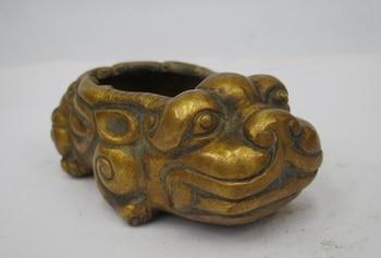 Chinese Folk Classical Bronze kylin Brave troops crock Incense Burner Censer a(5.19)