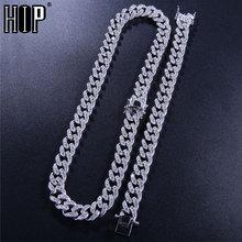 Hip Hop 8MM AAA CZ Bling Iced Out Cubic Zirconia Bracelet Necklace Geometric Stone Tennis Cuban Chain Bracelets Men Jewelry
