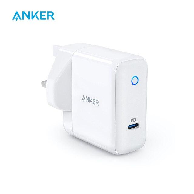 Cargador de pared Anker PowerPort Speed 1, USB tipo C 30 W y entrega de energía para HTC 10, nexus LG Pixel C Samsung W700 MacBook iPad etc.