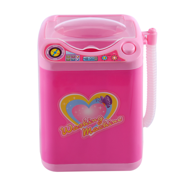 Educational Toy Mini Electric Washing Machine Children Pretend & Play Baby Kids Home Appliances Toy - Pink 1