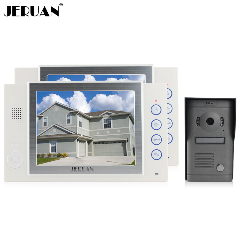 JERUAN 8 inch LCD screen video doorphone recording photo taking Home video door phone doorbell monitor intercom system aputure digital 7inch lcd field video monitor v screen vs 1 finehd field monitor accepts hdmi av for dslr