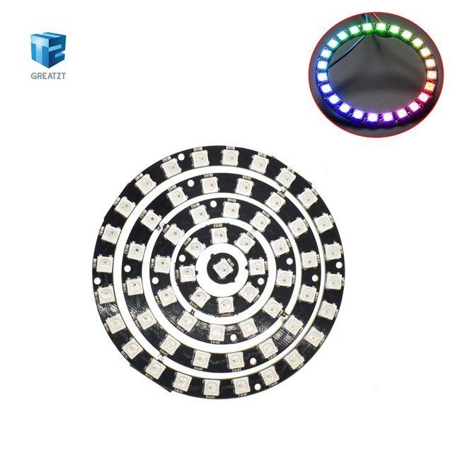 GREATZT 1pcs RGB LED Ring 1Bit 8Bit 12Bit 16Bit 24Bit WS2812 5050 RGB LED + Integrated Drivers