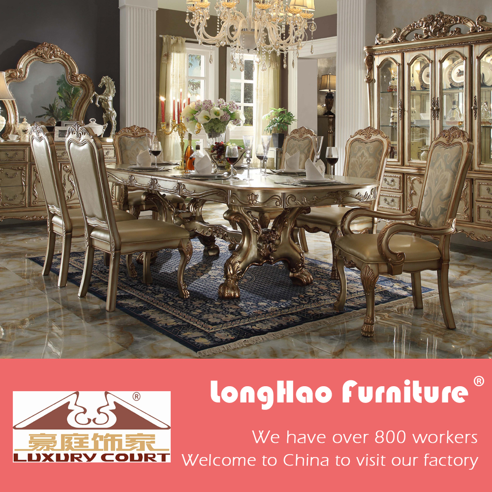 Beautiful Traditional American Style Classic Dining Room Furniture Dining Table