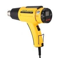 L502310 2000W LCD Digital Electric Hot Air Heat Gun Temperature Fan Adjustable Shrink Wrap Paint Stripper DIY Tool + Nozzle