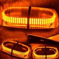 240 LED Car Strobe Emergency Warning Mini Bar Lights Magnetic Base Amber Light