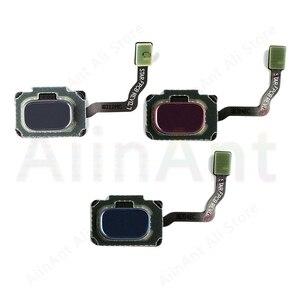 Для samsung Galaxy S9 Plus G965U G955N G965F S9 G960U G960N G960F оригинальная задняя кнопка домой датчик отпечатков пальцев домашний гибкий кабель