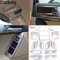 Для Toyota Prado J150 2014 2016 хромированные внутренние аксессуары дверные ручки крышки планки переменного тока детали вентилятора, накладка на лампу