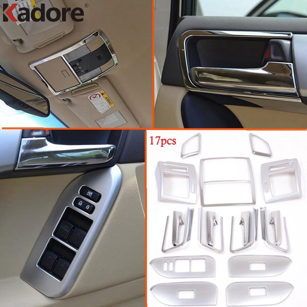 For Toyota Prado J150 2014 2016 Chrome Interior Decoration