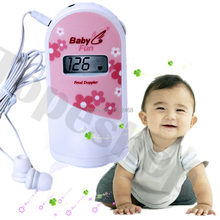Babyfun Baby Monitor + 2.5 MHz LCD Layar! Fetal Doppler Cute Pink Prenatal Monitor Earphone + Kabel Video(China)