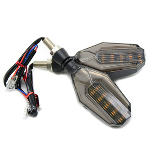 Image 5 - Universal Motorcycle LED Turn Signal Indicator Light Blinker Lens Black Lamp for Honda CBR250R Bmw G650GS F700GS VT 750s VFR400