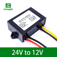 цены 24V to 12V 3A 5A 8A 10A 12A DC DC Converter 120W Step Down Voltage Regulator 24 Volt to 12 Volt Buck Module for Cars Trucks RoHS