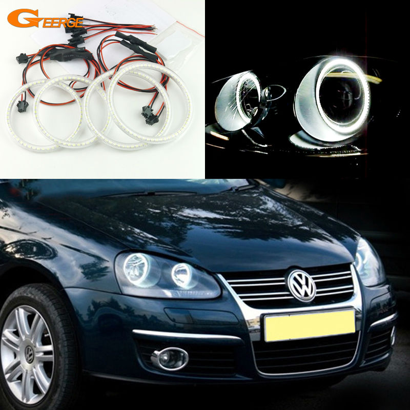 For Volkswagen VW Golf Rabbit Jetta GTI R32 MKV MK5 2005 2006 2007 2008 2009 2010 Excellent Ultra bright smd led Halo Ring kit volkswagen new beetle 2005 2009 кабриолет