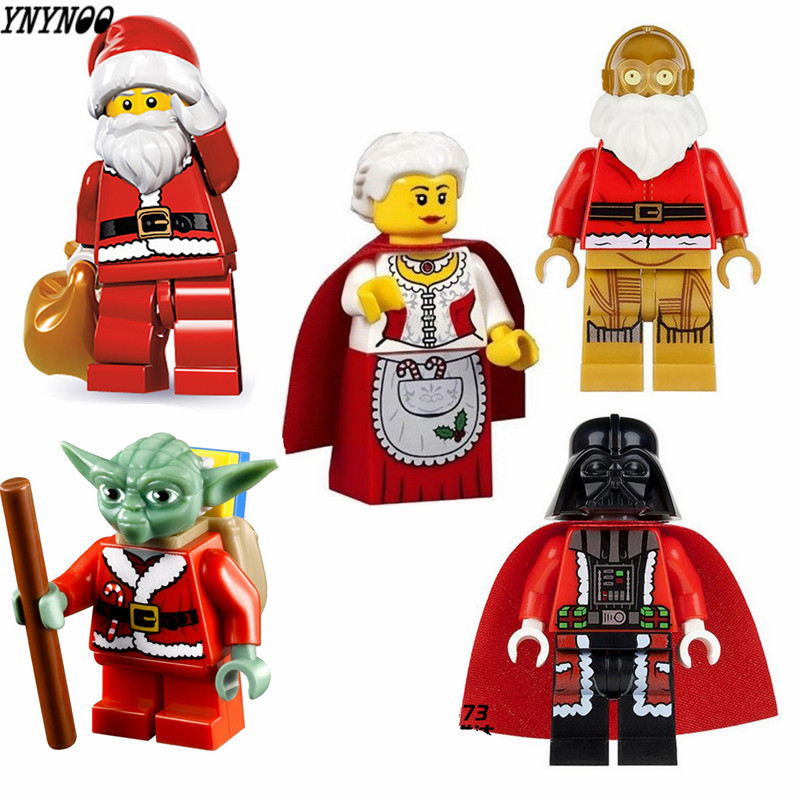 YNYNOO 5Pcs/Set Darth Vader Christmas Advent Calendar STAR WARS TMNT friends DIY Assemble Building Blocks Kids Xmas Toys Gift 1pc imperial death trooper rogue one 75156 diy figures star wars superheroes assemble building blocks kids diy toys xmas