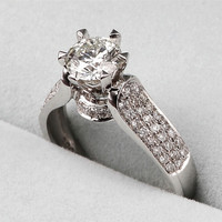 Victoria Wieck Eternity Jewelry 2ct Topaz Simulated Diamond 925 Sterling Silver Women Wedding Ring Engagement Band