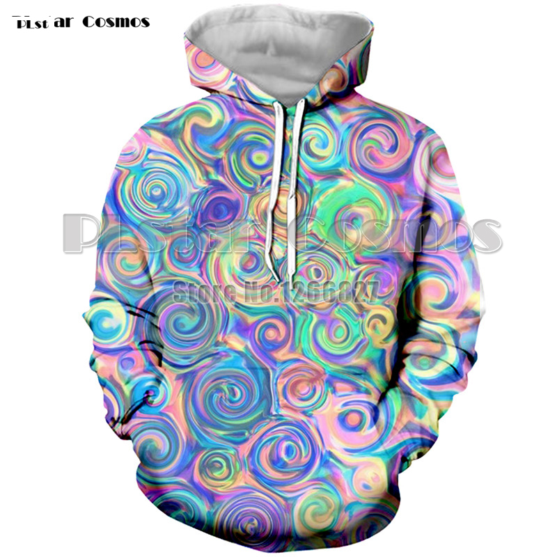 newest Fashion Colorful Trippy 3D Hoodies Men women Psychedelic Streetwear Hip Hop Plus Size Hooded Sweatshirt Men Casual Hooded