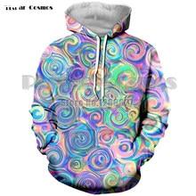 Nuevo de moda colorido Trippy 3D sudaderas con capucha de las mujeres de  los hombres psicodélico Streetwear Hip Hop Plus tamaño . bf80d246d7c