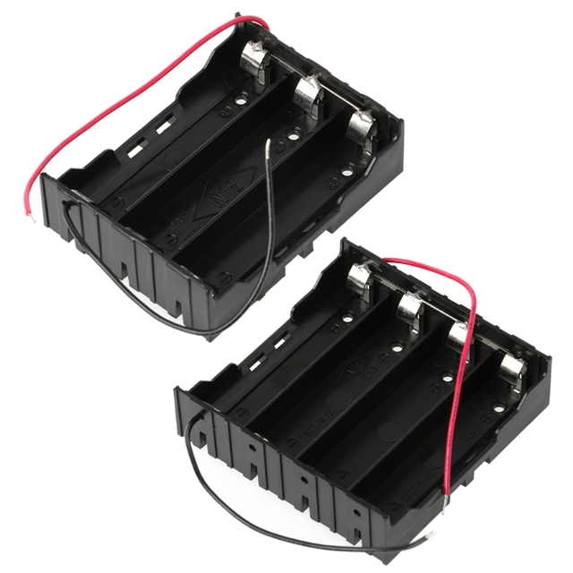 3 7v parallel 3x 4x 18650 batteries holder box storage case
