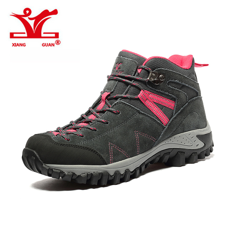 New 2017 XIANGGUAN Trekking Boots Shoes Outdoor Hiking Shoes For Women Walking Sports lady Winter Sneakers Size 36-39 hot sale new women hiking shoes outdoor sports shoes winter warm sneakers women mountain high tops ankle plush zapatillas camping shoes